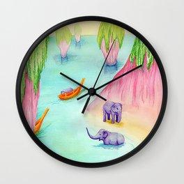 Thailand Travel Poster Wall Clock