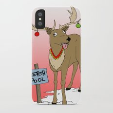 Christmas Reindeer Slim Case iPhone X