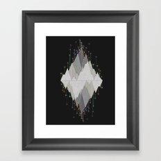 Flocking Mountain Lights Framed Art Print