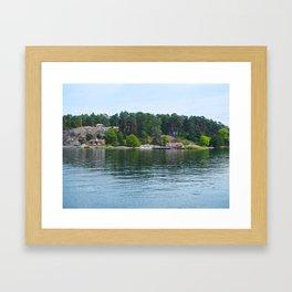 Island in the Archipelago Framed Art Print