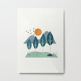 Minimalist Landscape Art I Metal Print