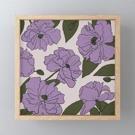 Purple poppies Framed Mini Art Print