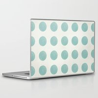 polka dots Laptop & iPad Skins featuring Polka Dots by Juste Pixx Designs