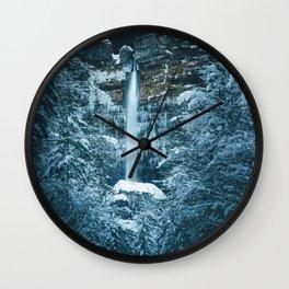 Magical waterfall Peričnik in Mojstrana, Slovenia Wall Clock