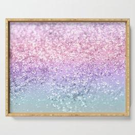 Unicorn Girls Glitter #1 #shiny #pastel #decor #art #society6 Serving Tray