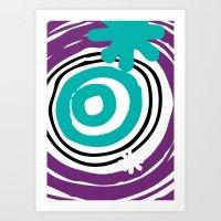 Warp Hole Art Print