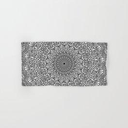 Aztec mandala   [black] Hand & Bath Towel