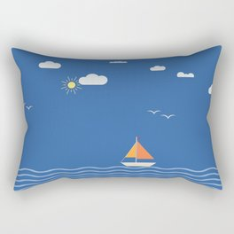 Open Sails Rectangular Pillow