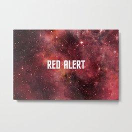 Red Alert Metal Print