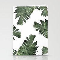 banana leaf Stationery Cards featuring Banana Leaf Frenzy #society6 by 83 Oranges™