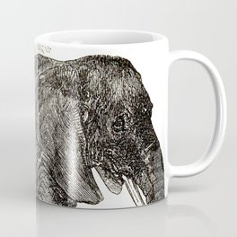 Vintage Elephant Illustration (1891) Coffee Mug