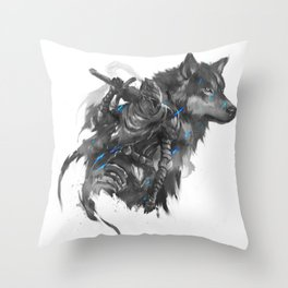 Artorias and Sif Throw Pillow