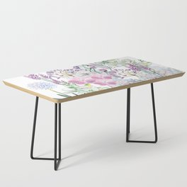 Spring Flowers Bouquet Coffee Table