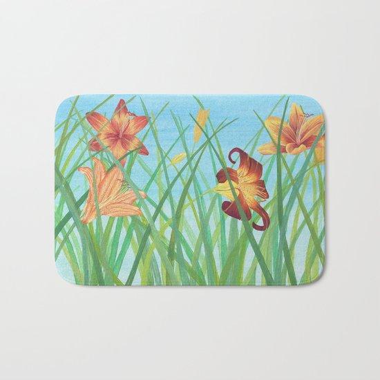 Lilly Garden Bath Mat