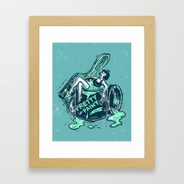 Pretty In Paint Framed Art Print