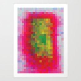 Digital Patchwork: Fuchsia Art Print