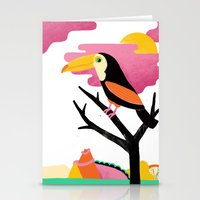 toucan Stationery Cards featuring Toucan by Vasilisa Wise