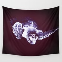 sea turtle Wall Tapestries featuring Sea Turtle by DistinctyDesign