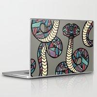 anaconda Laptop & iPad Skins featuring Anaconda by schillustration
