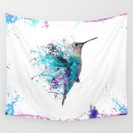 HUMMING BIRD SPLASH Wall Tapestry