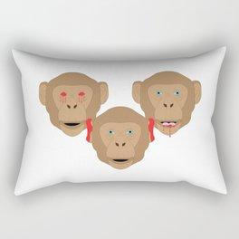 Three Wise Monkeys Rectangular Pillow