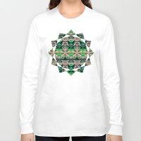 bamboo Long Sleeve T-shirts featuring Bamboo by Zandonai Pattern Designs