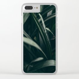 Spanish greens Clear iPhone Case