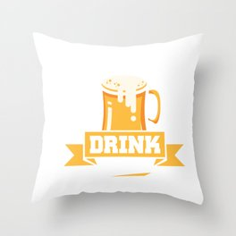 Save Water Drink Beer Funny Beer Drinking Pun Joke Throw Pillow