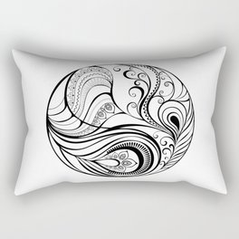 Abstraction with Peacock Feather Rectangular Pillow