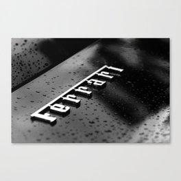 Ferrari Black and White Canvas Print