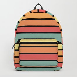 Multicolored Stripes: Sunset Colors Backpack