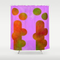 cactus Shower Curtains featuring CACTUS by lucborell