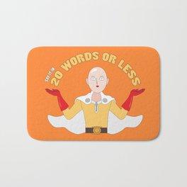 Saitama's motto - 20 words or less! Bath Mat