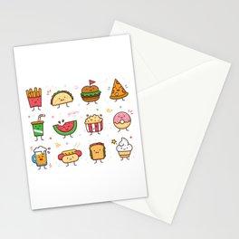 Food Doodle Stationery Cards