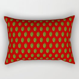Hops Red Pattern Rectangular Pillow