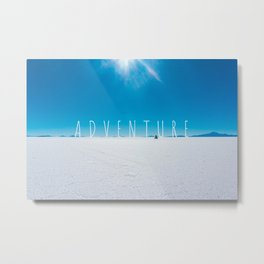 Adventure on the Salt Flats, Bolivia Metal Print