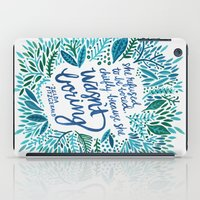 fitzgerald iPad Cases featuring Zelda Fitzgerald – Blue on White by Cat Coquillette