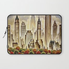 Vintage New York Central Park United Airlines Advertisement Poster Laptop Sleeve