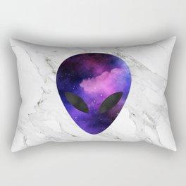 Galaxy Alien on Marble - tumblr trendy Rectangular Pillow