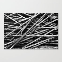 Rebar And Spring - Industrial Abstract Canvas Print