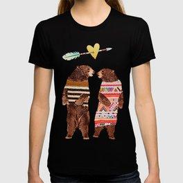 Dancing Bear Couple in Love T-shirt