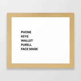 Phone Keys Wallet Purell Framed Art Print