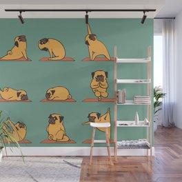 Pug Yoga Wall Mural