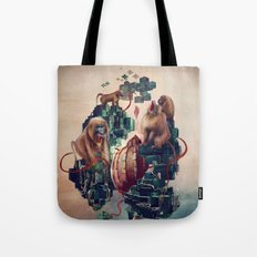 monkey temple Tote Bag