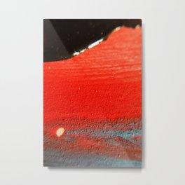 BLACK RED Metal Print