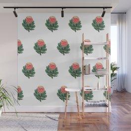 Vintage Botanical Protea Pattern Wall Mural