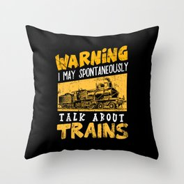 Freight trains Locomotive Steam railway Railroad Throw Pillow