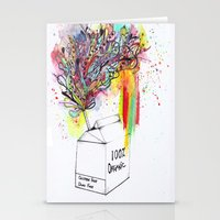 vegan Stationery Cards featuring Vegan Victory by Sam Corona