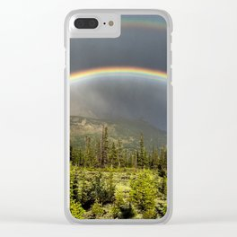 Double Rainbow in Jasper Clear iPhone Case