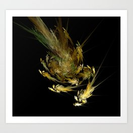 Spiral Swarm Art Print